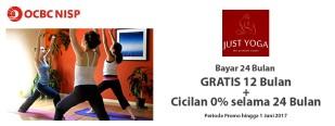 Bayar 24 Bulan GRATIS 12 Bulan + Cicilan 0% selama 24 Bulan di Just Yoga