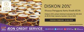 Diskon 20% Ezo Cheese Cake di AEON Mall JGC & AEON Mall BSD