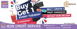 Beli 1 Gratis 1 Tiket Cinemaxx dengan Kartu Kredit AEON