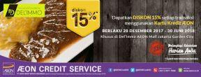 Diskon 15% Del'immo Pattiserie di AEON Mall BSD