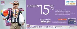 Diskon 15% MisterAladin Menggunakan Kartu Kredit AEON