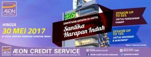 Diskon Hingga 55% di Hotel Santika Premiere dengan Kartu Kredit AEON