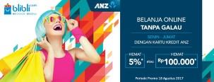 ANZ Belanja Online Tanpa Galau Hemat 5%+ 100 Ribu