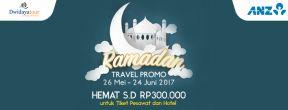 Dwidayatour Hemat s.d Rp300.000 dengan Kartu Kredit ANZ