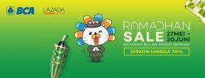 Promo Ramadhan! Diskon s.d 70% dan Tambahan Diskon 15% di Lazada dengan Kartu Kredit BCA