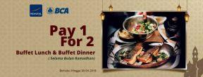 Pay 1 For 2 Buffet Lunch & Buffet Dinner di Novotel Mangga Dua denga Kartu Kredit BCA
