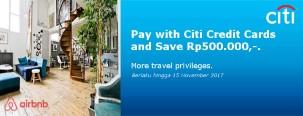 Hemat 500ribu di Airbnb Eksklusif untuk Kartu Kredit Citi