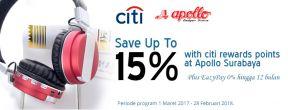 Hemat Hingga 15% dengan Citi Rewards Points di Apollo Surabaya