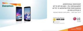 Diskon Tambahan s.d 150ribu + Cicilan 0% s.d 12 Bulan untuk LG K8 & Stylus 3