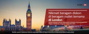 Diskon Berbagai Merchant ternama di London dengan Kartu Kredit HSBC