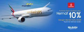 Diskon 10% Emirates Airlines dengan Mandiri Kartu Kredit
