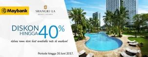 Diskon 40% di Shangri-La Hotel dengan Maybank JCB Platinum