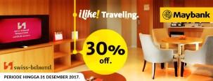 Diskon Hingga 30% di Swiss Belhotel Seluruh Indonesia dengan Maybank JCB Platinum