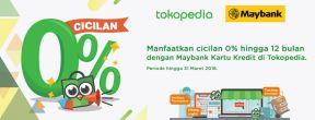 Cicilan 0% Tokopedia dengan Kartu Kredit Maybank