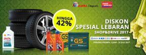 Promo Lebaran GRATIS Oli dan Diskon S.d 35% di Shop&Drive dengan CIMB Niaga Kartu Kredit