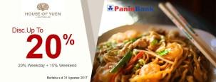 Diskon 20% House of Yuen dengan Kartu Kredit Panin