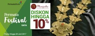 Manjusha Diskon Hingga 10% dengan Kartu Kredit Permata