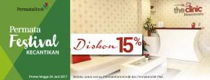 Diskon 15% dan Cicilan 0% di The Clinic dengan Menggunakan Kartu Kredit Permata