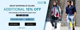 Ekstra Diskon 15% di Zalora dengan Kartu Kredit Standard Chartered