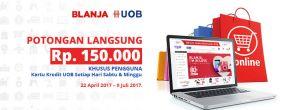 Potongan Langsung Rp150.000 di Blanja.com dengan UOB Kartu Kredit