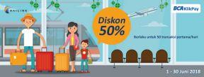 Diskon 50% Railink dengan Kartu Kredit BCA