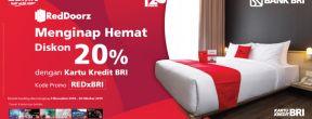 Diskon 20% di RedDoorz dengan Kartu Kredit BRI