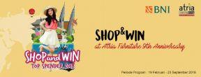 Shop&Win at Atria Furniture 9th Anniversary dengan Kartu Kredit BNI