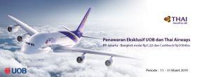Penawaran Eksklusif UOB dan Thai Airways untuk Pemegang Kartu Kredit UOB