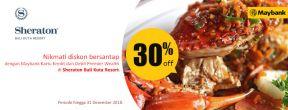 Diskon 30% di Sheraton Bali Kuta Resort dengan Kartu Kredit Maybank