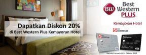 Diskon 20% di Best Western Plus Kemayoran Hotel dengan Kartu Kredit Bank Sinarmas