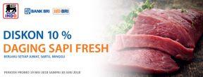 Diskon 10% Daging Sapi Fresh di Superindo dengan Kartu Kredit BRI