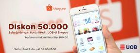 Diskon Rp50ribu di Shopee dengan Kartu Kredit UOB