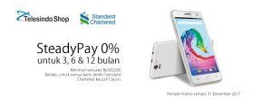 Diskon Spesial dan Steadypay 0% di Telesindo Shop dengan Kartu Kredit Standard Chartered
