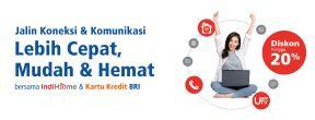 Diskon 20% Autopayment Indihome dengan Kartu Kredit BRI