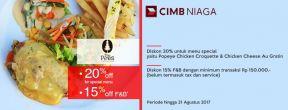 Diskon 20% dan 15% di Pines Cafe dengan Kartu Kredit CIMB Niaga