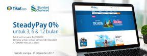 Diskon Spesial dan Steadypay 0% di Tiket.com dengan Kartu Kredit Standard Chartered