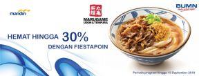 Hemat Hingga 30% di Seluruh Outlet Marugame Udon & Tempura dengan Kartu Kredit Mandiri