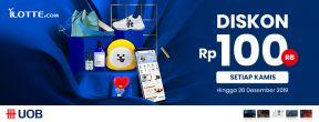 ILOTTE.COM Thursday deals Diskon 100Ribu dengan Kartu Kredit UOB