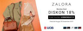 Zalora Monday Deal Diskon 10% dengan Kartu Kredit UOB