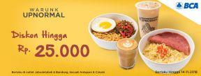 Diskon Hingga Rp 25.000 di Warunk UpNormal dengan Kartu Kredit BCA