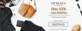 Voucher Code Diskon 15% di VIP Plaza
