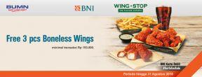 Gratis 3 pcs Boneles Wings dengan Debit BNI di Wingstop dengan Kartu Kredit BNI